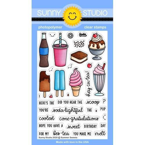 Summer Sweets, Sunny Studio Clear Stamps -