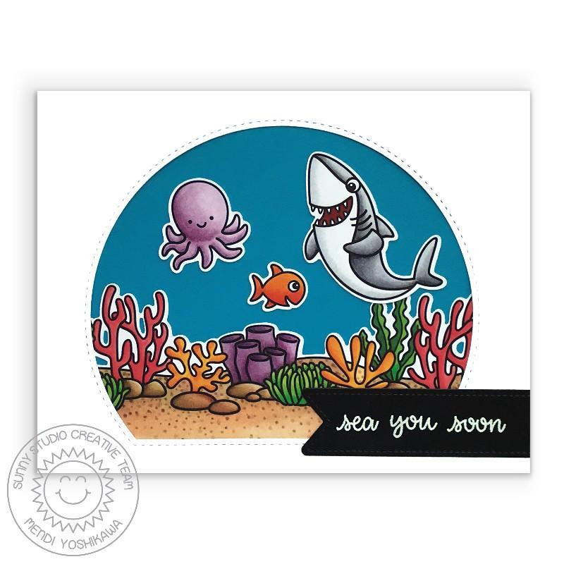 Sea You Soon, Sunny Studio Clear Stamps -