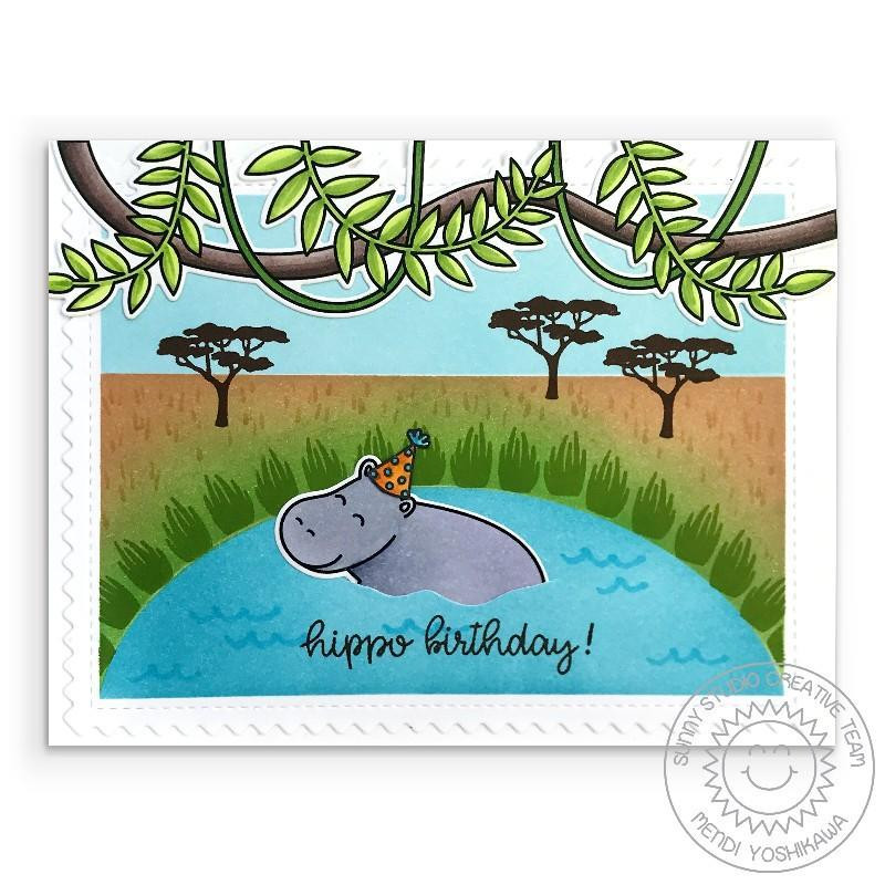 Tropical Scenes, Sunny Studio Clear Stamps -
