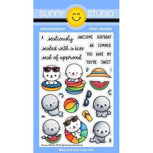 Sealiously Sweet, Sunny Studio Clear Stamps -