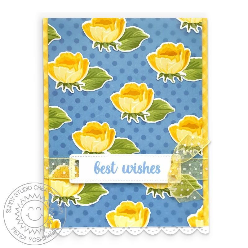 Potted Rose, Sunny Studio Clear Stamps -