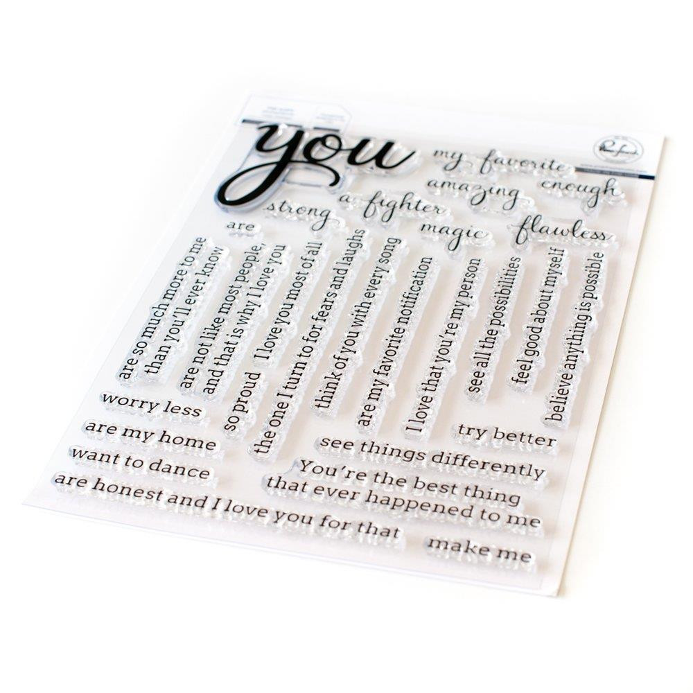 Simply Sentiments: You, Pinkfresh Studio Clear Stamps - 782150205176