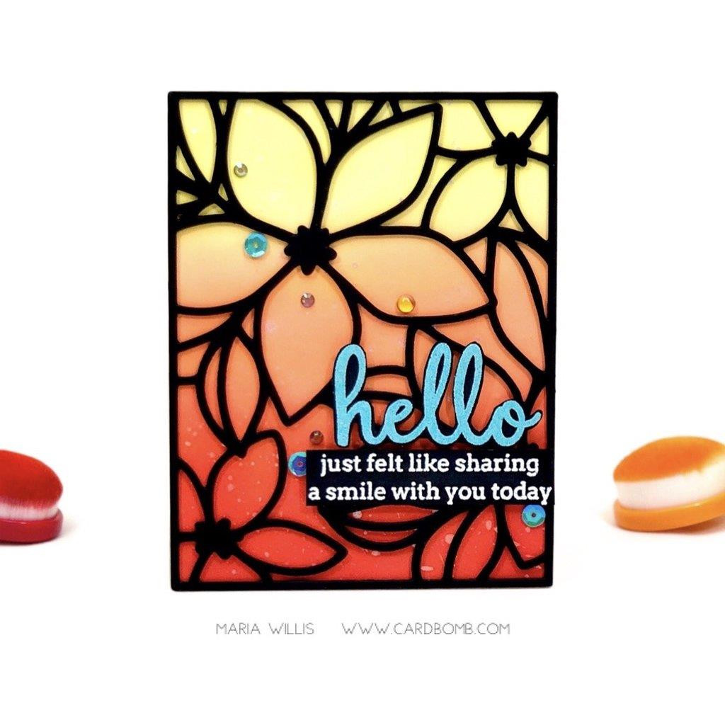 Simply Sentiments: Hello, Pinkfresh Studio Clear Stamps -
