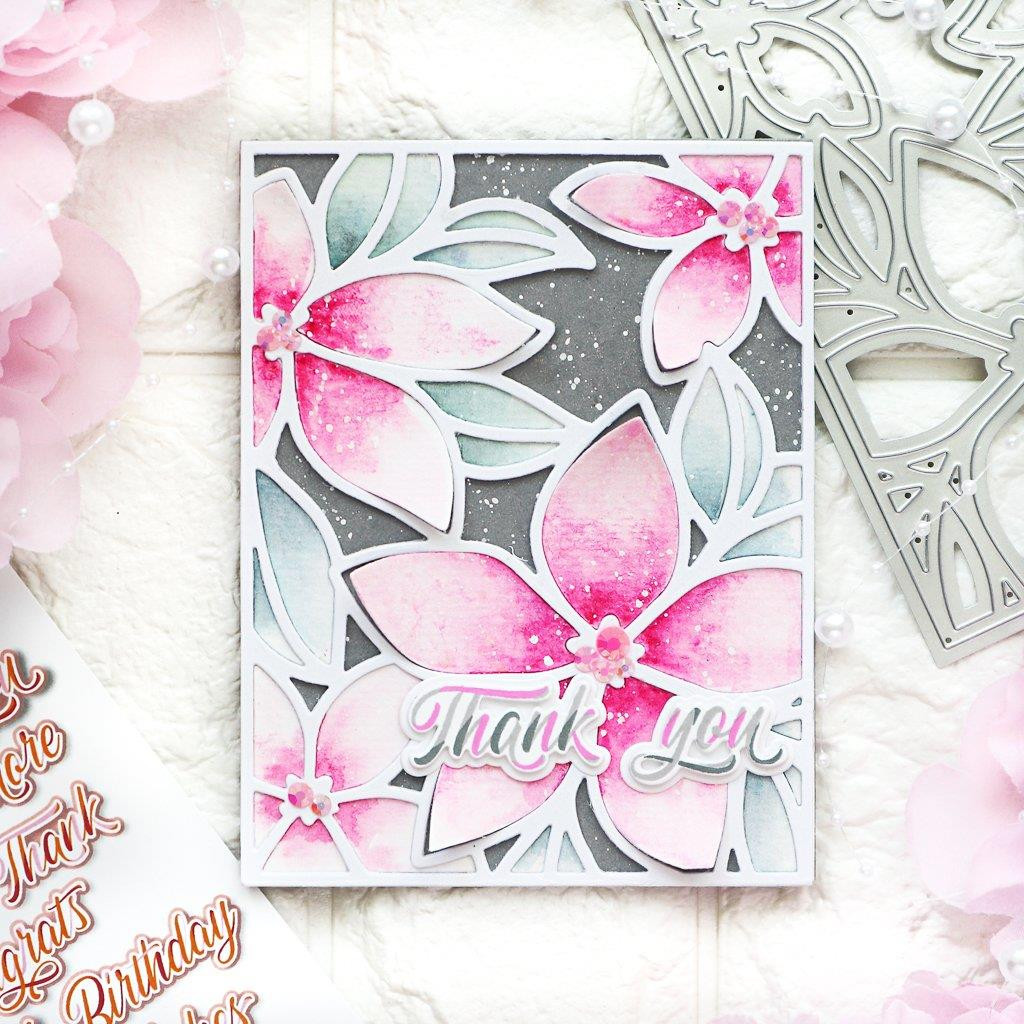 Layered Script Words, Pinkfresh Studio Clear Stamps - 782150205190