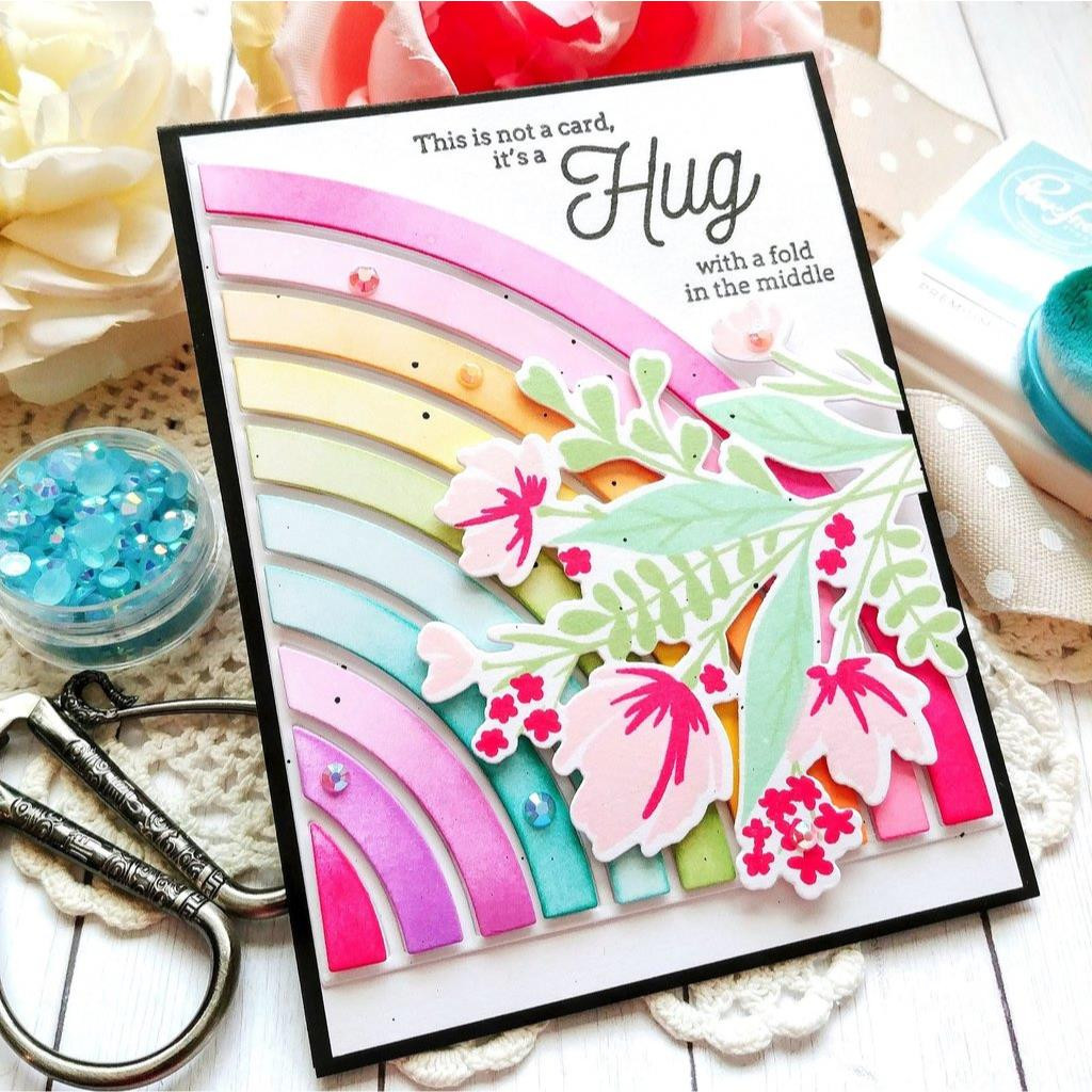 Modern Layered Floral, Pinkfresh Studio Clear Stamps - 782150205220