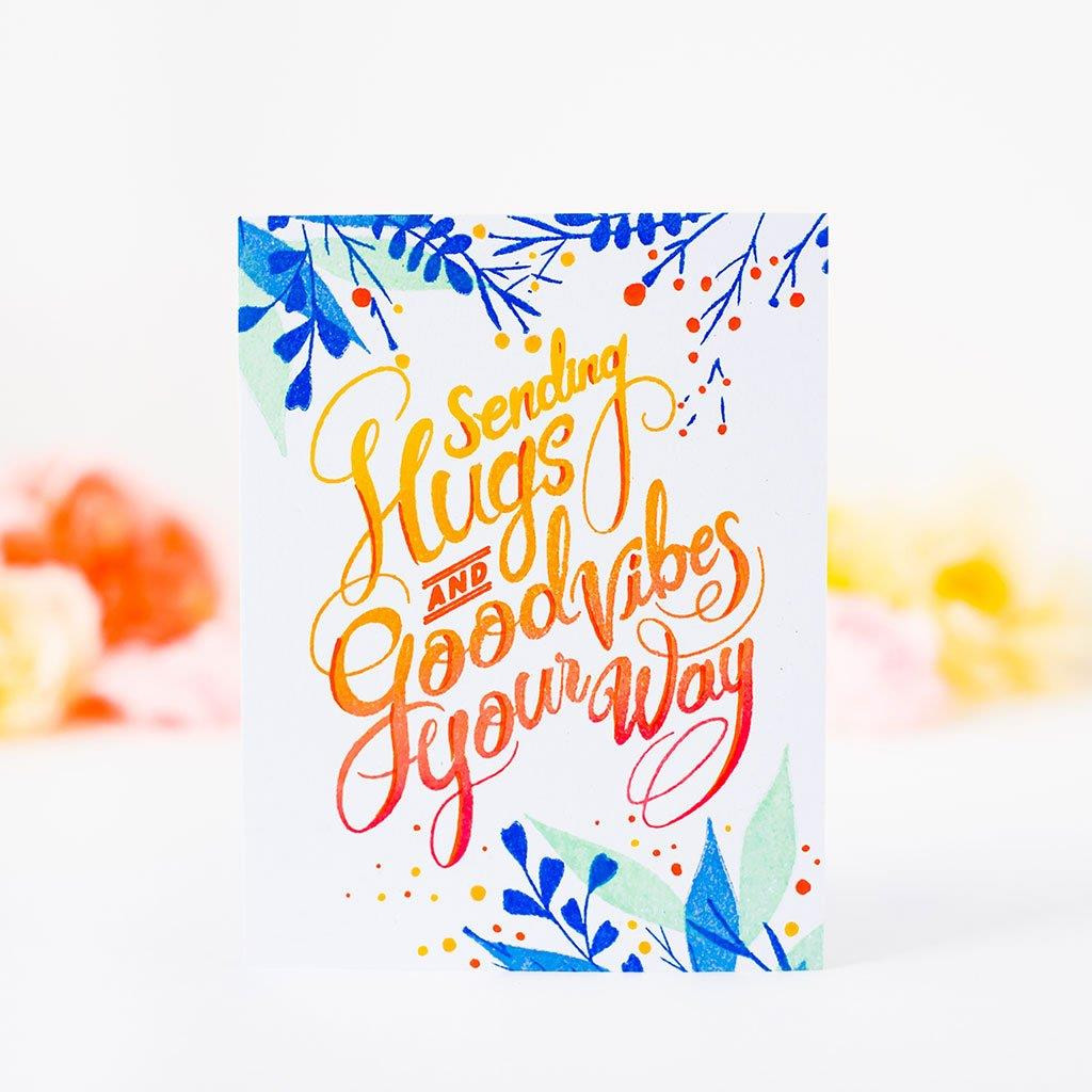 Hugs and Good Vibes, Pinkfresh Studio Clear Stamps - 782150205268