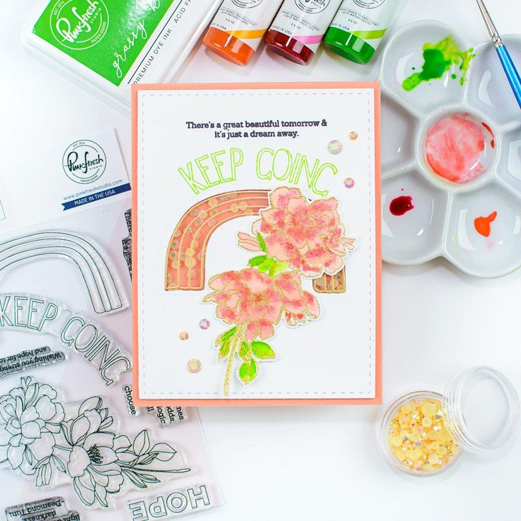 Keep Going, Pinkfresh Studio Clear Stamps - 782150204629