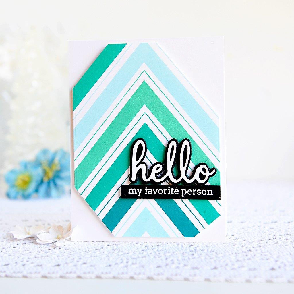 Chevron Background, Pinkfresh Studio Cling Stamps - 782150205350
