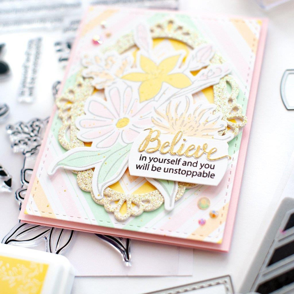 Nested Diamond Background, Pinkfresh Studio Cling Stamps - 782150205367