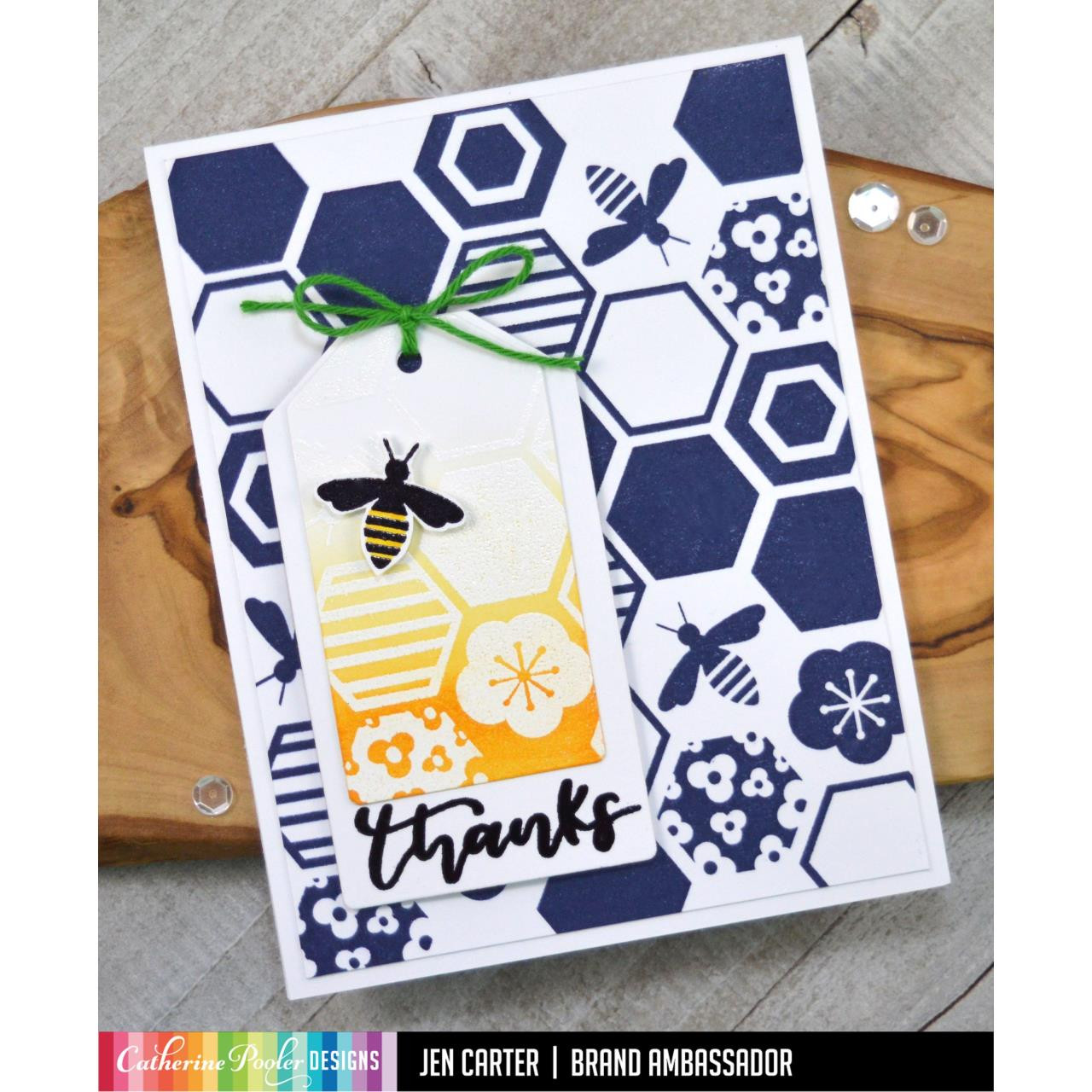 Beehive Background, Catherine Pooler Cling Stamps - 819447025947