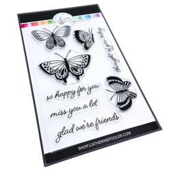 Happy Butterflies, Catherine Pooler Clear Stamps - 819447025480