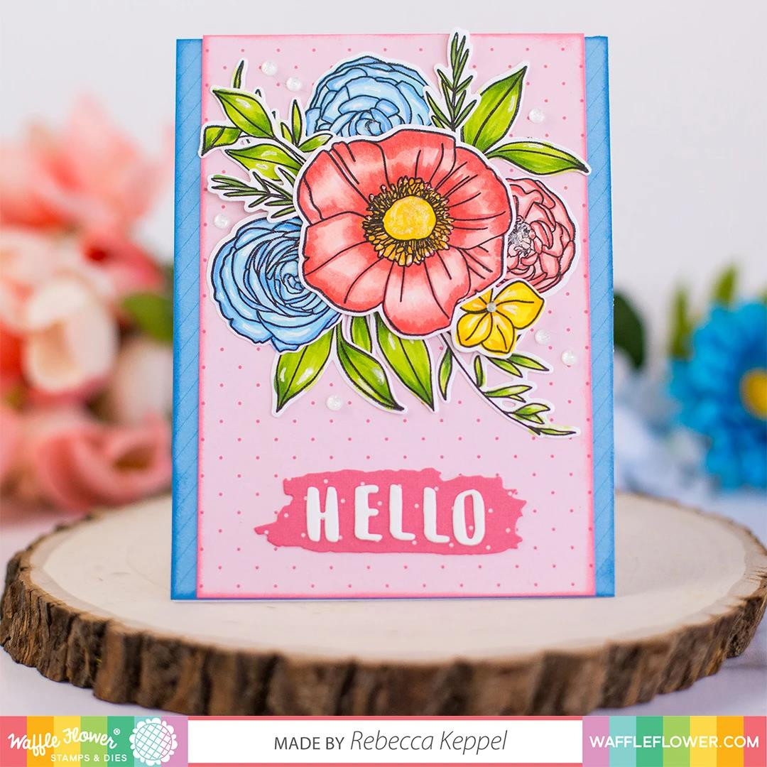 Bouquet Builder 7, Waffle Flower Clear Stamps - 780348638430