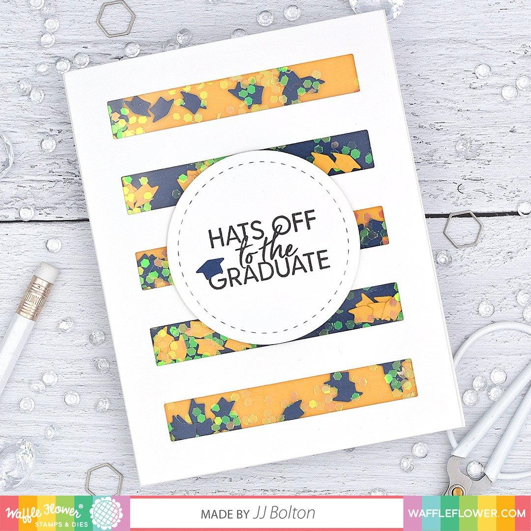 Graduation Sentiments, Waffle Flower Clear Stamps - 780348638454