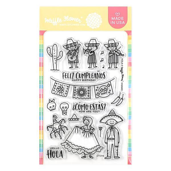 Hola Mexico, Waffle Flower Clear Stamps - 780348638478