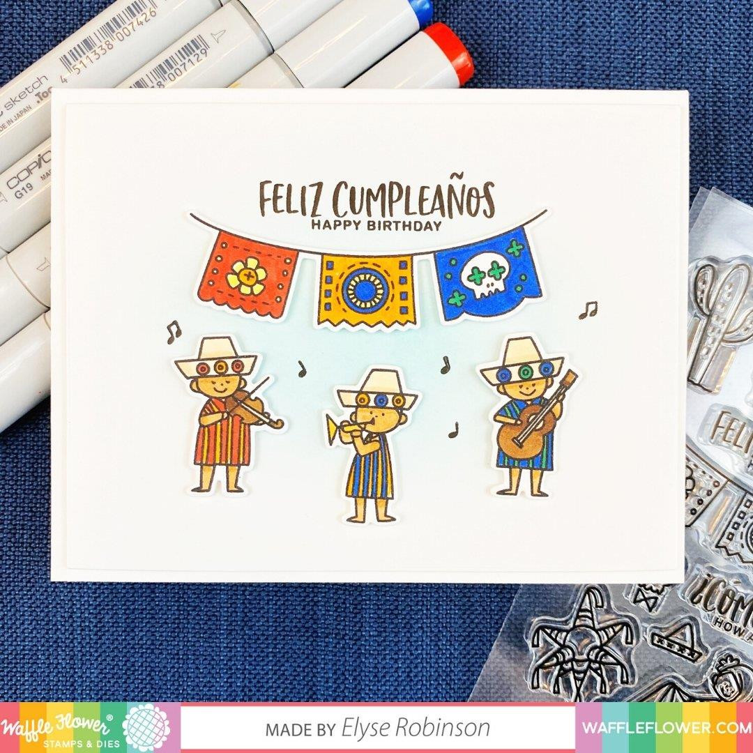 Hola Mexico, Waffle Flower Stamp & Die Combo - 780348638669
