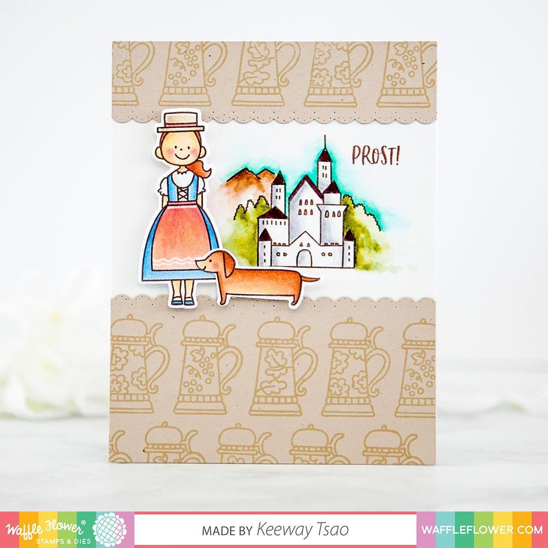 Prost Germany, Waffle Flower Clear Stamps - 780348638492