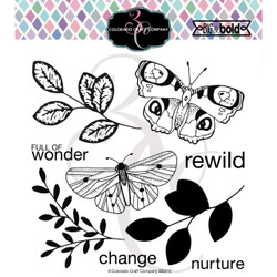 Blissful Butterflies, Colorado Craft Company Clear Stamps -