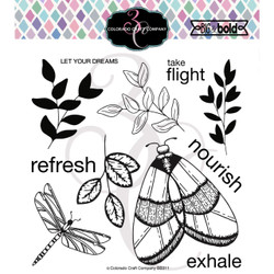 Majestic Moth, Colorado Craft Company Clear Stamps -