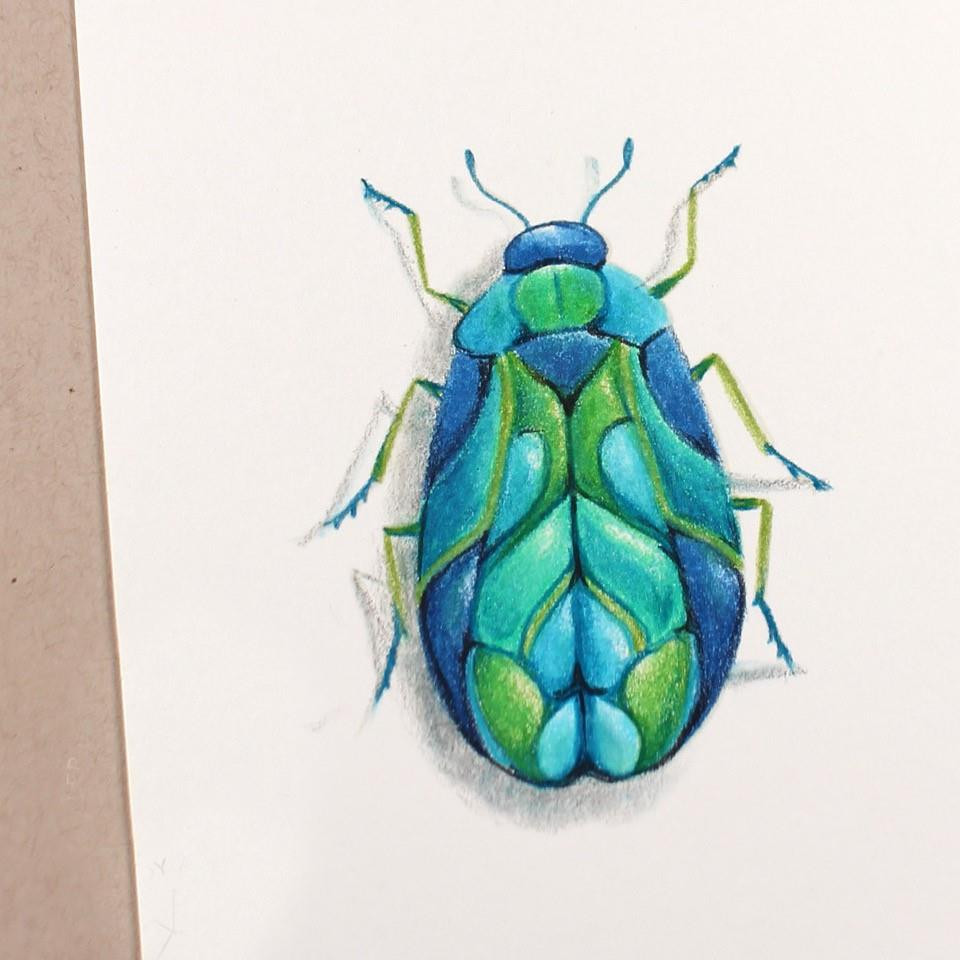 Brilliant Beetle, Colorado Craft Company Clear Stamps -