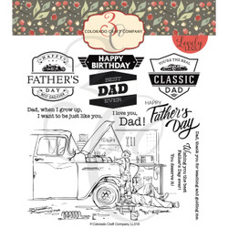 Father & Son, Colorado Craft Company Clear Stamps -