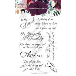 Friendship Greetings, Colorado Craft Company Clear Stamps -