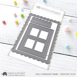 Frilly Window Frame, Mama Elephant Creative Cuts -