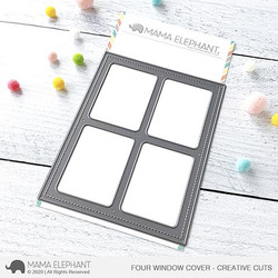Four Window Cover, Mama Elephant Creative Cuts -