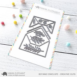 Botanic Envelope, Mama Elephant Creative Cuts -