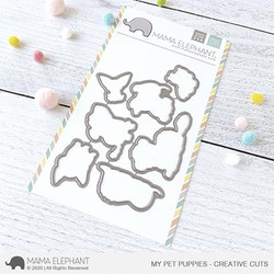 My Pet Puppies, Mama Elephant Creative Cuts -