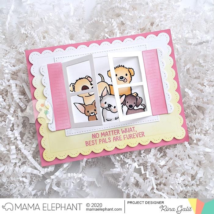 My Pet Puppies, Mama Elephant Clear Stamps -
