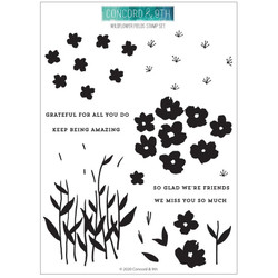 Wildflower Fields, Concord & 9th Clear Stamps - 717932697702