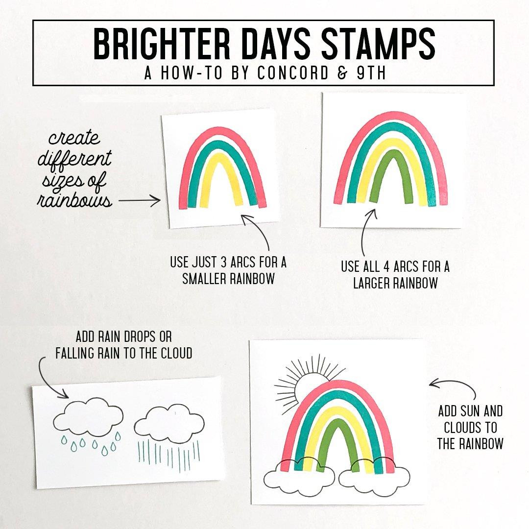 Brighter Days, Concord & 9th Clear Stamps - 090222401488