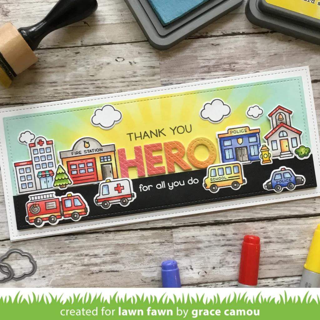 Village Heroes, Lawn Fawn Clear Stamps - 352926755442