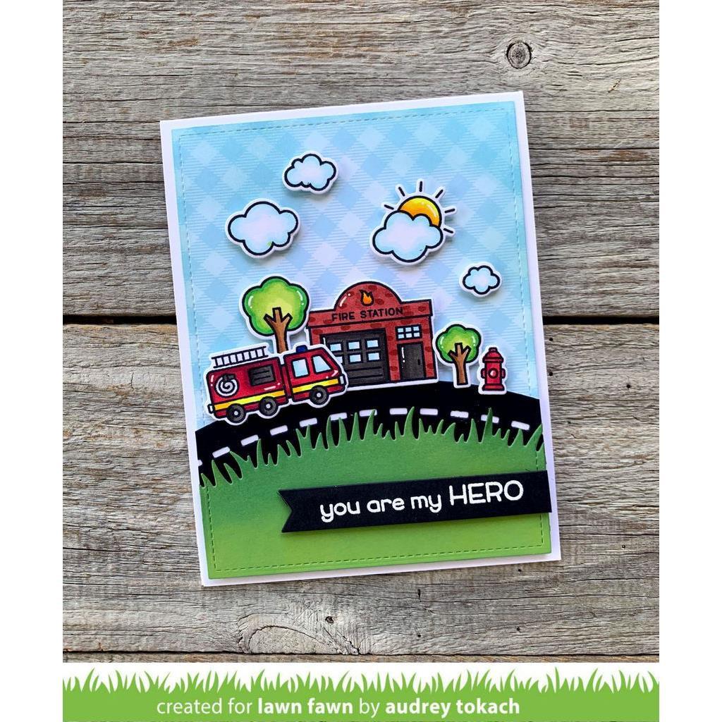 Village Heroes, Lawn Fawn Clear Stamps - Ellen Hutson LLC