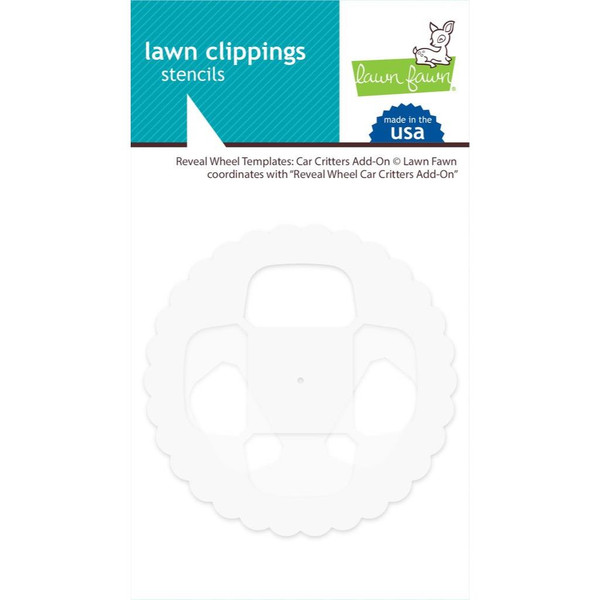Reveal Wheel Templates: Car Critters Add-On, Lawn Fawn Stencils - 352926756814