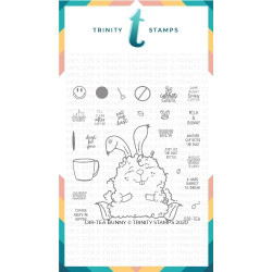 Dir-Tea Bunny, Trinity Stamps Clear Stamps -