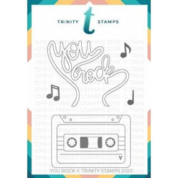 You Rock, Trinity Stamps Clear Stamps -