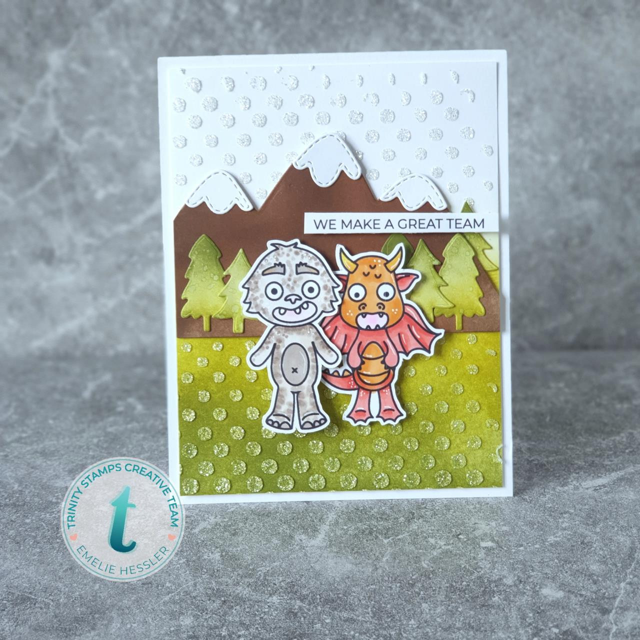 Slimline Series: Wonky Stitched Wilderness, Trinity Stamps Dies -