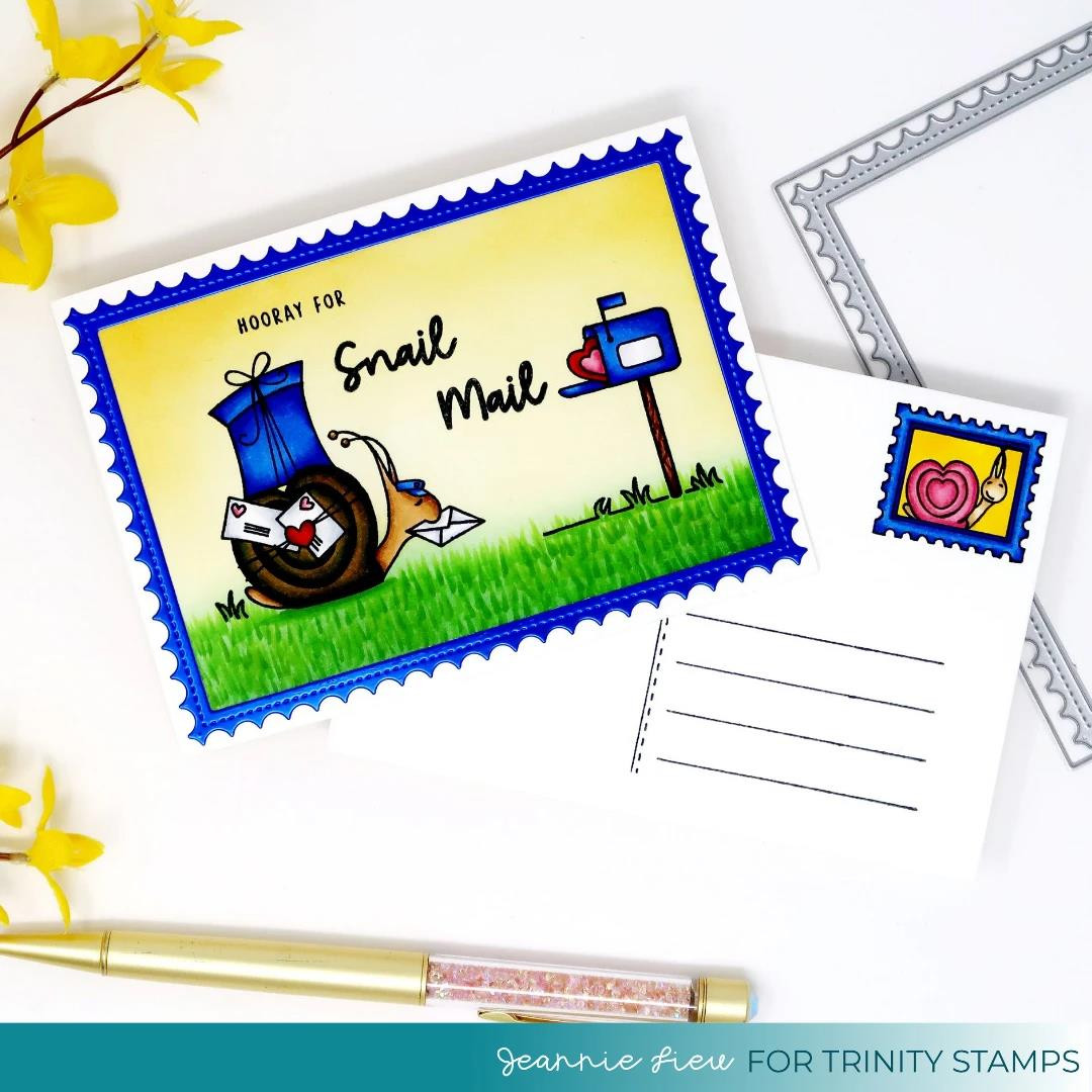Mr. Snailman, Trinity Stamps Clear Stamps -