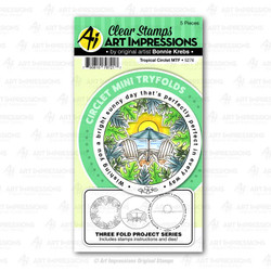 Circlet Mini Tryfolds - Tropical, Art Impressions Clear Stamps - 750810797217