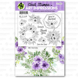 Floral Invites, Art Impressions Clear Stamps - 750810797125