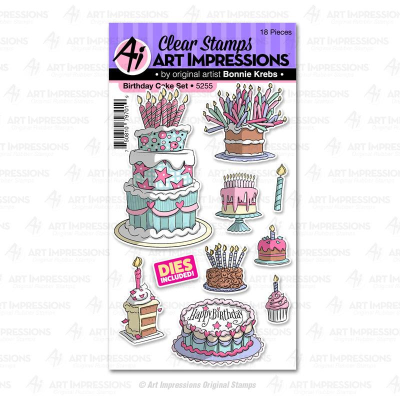 Birthday Cake, Art Impressions Clear Stamps - 750810797019