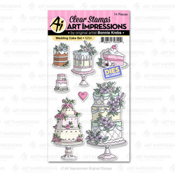 Wedding Cake, Art Impressions Clear Stamps - 750810797002
