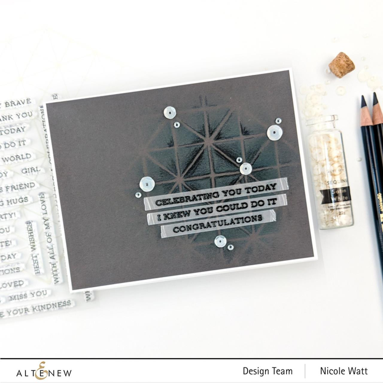 Sentiment Strips 2, Altenew Clear Stamps - 737787262382