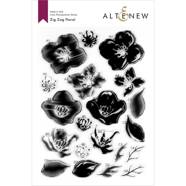 Zig Zag Floral, Altenew Clear Stamps - 737787262429