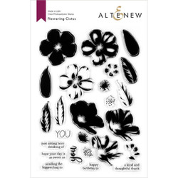 Flowering Cistus, Altenew Clear Stamps - 737787263679