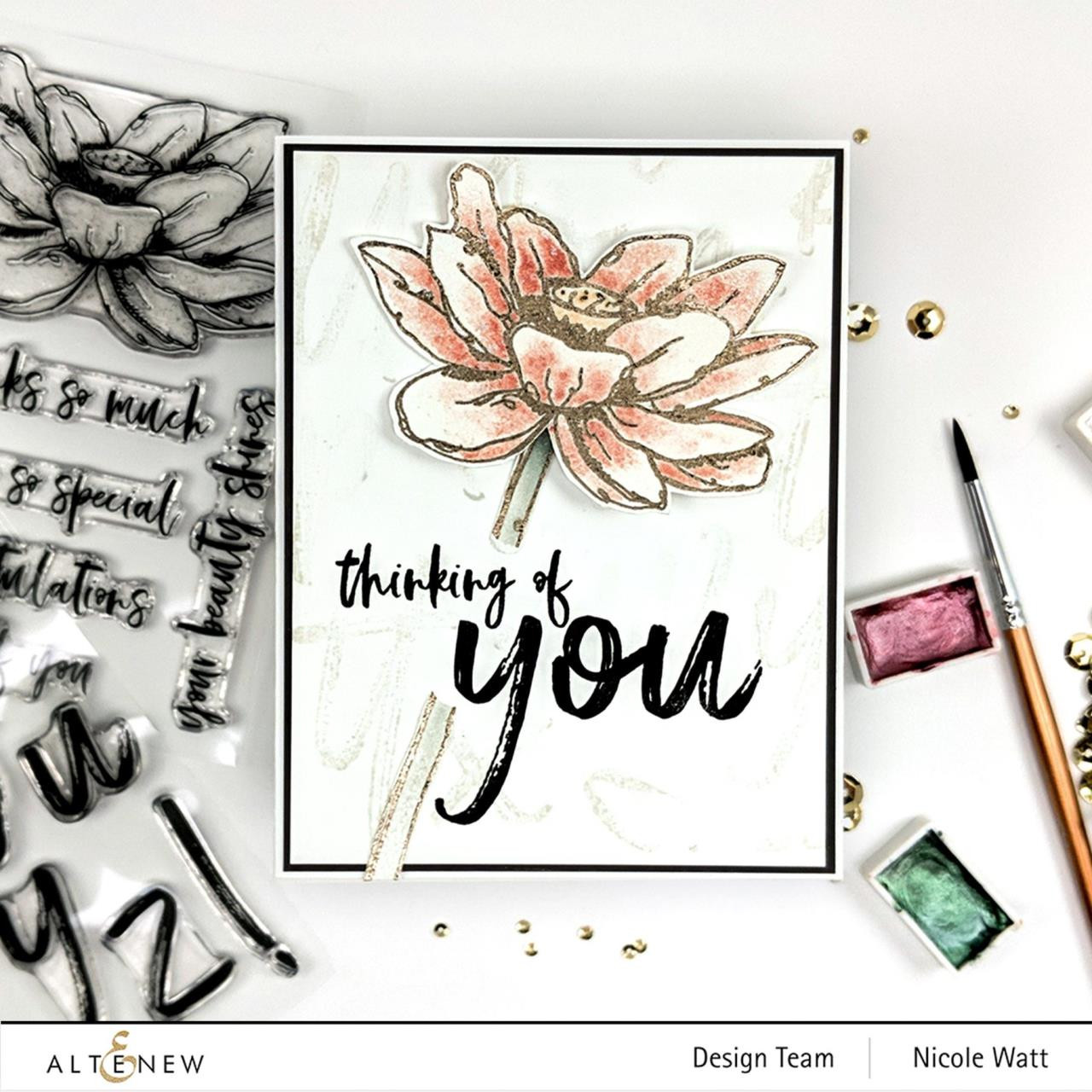 Inked Lotus, Altenew Clear Stamps - 737787263723
