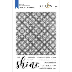 Shine Like a Diamond, Altenew Clear Stamps - 737787263785