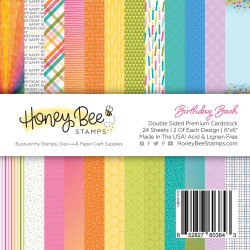 Birthday Bash, Honey Bee 6 X 6 Paper Pad - 652827603843