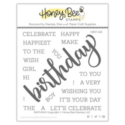 Birthday, Honey Bee Clear Stamps - 652827603911